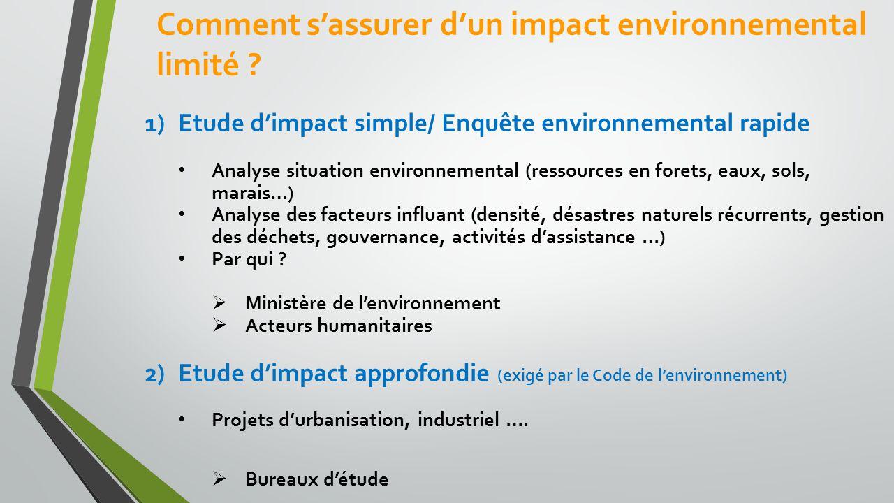 Comment s'assurer d'un impact environnemental limité