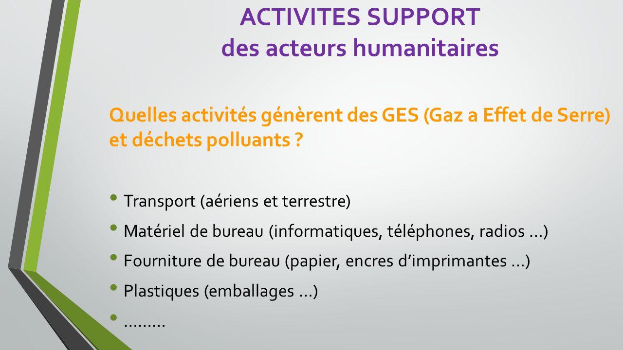des acteurs humanitaires