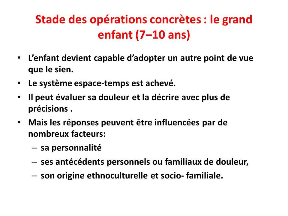 Stade des opérations concrètes : le grand enfant (7–10 ans)