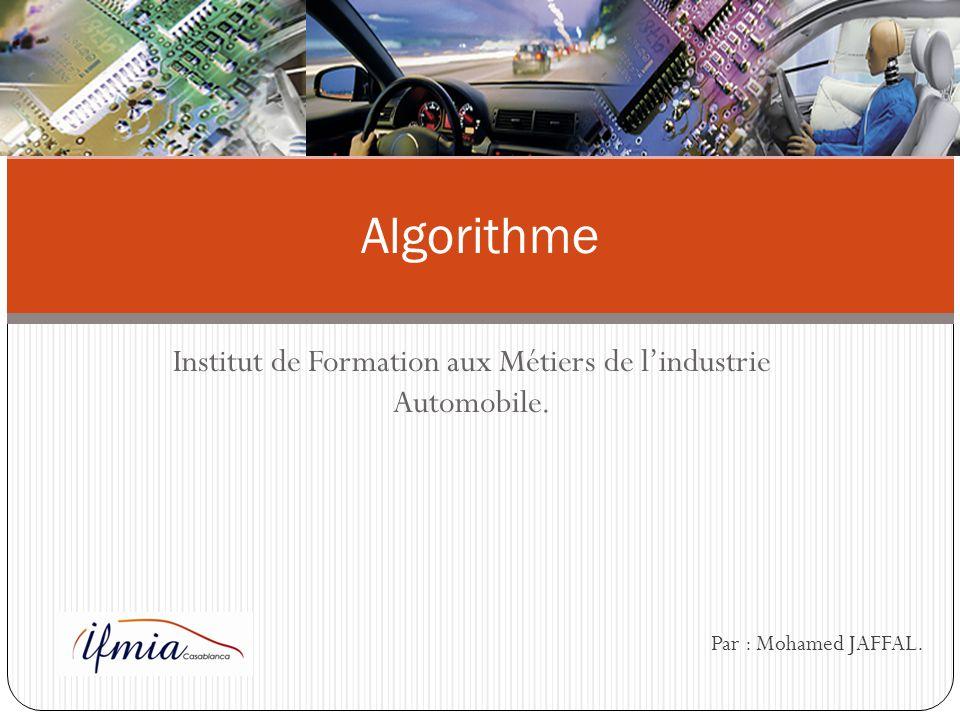 Institut de Formation aux Métiers de l'industrie Automobile.