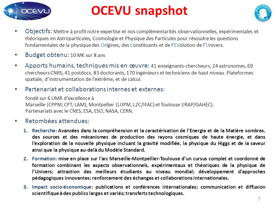 OCEVU snapshot