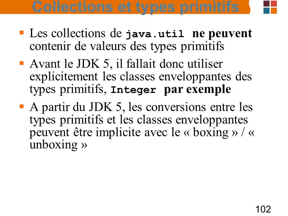 Collections et types primitifs
