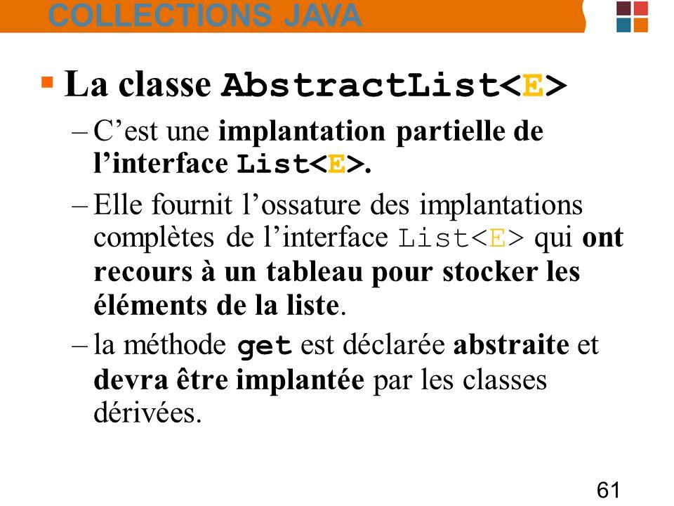 La classe AbstractList<E>