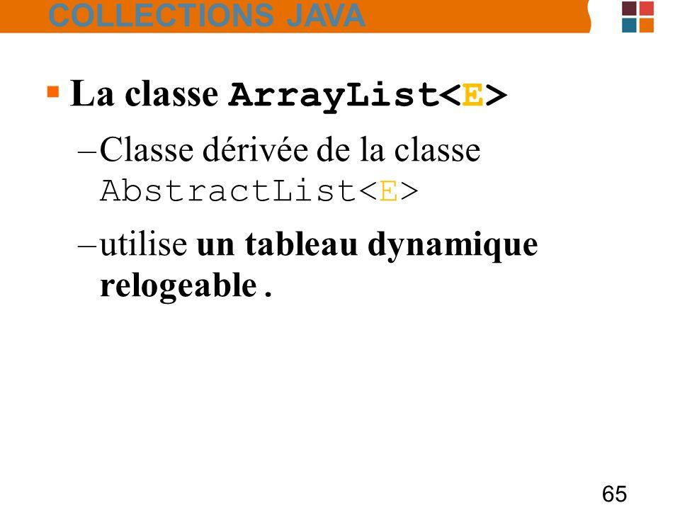 La classe ArrayList<E>