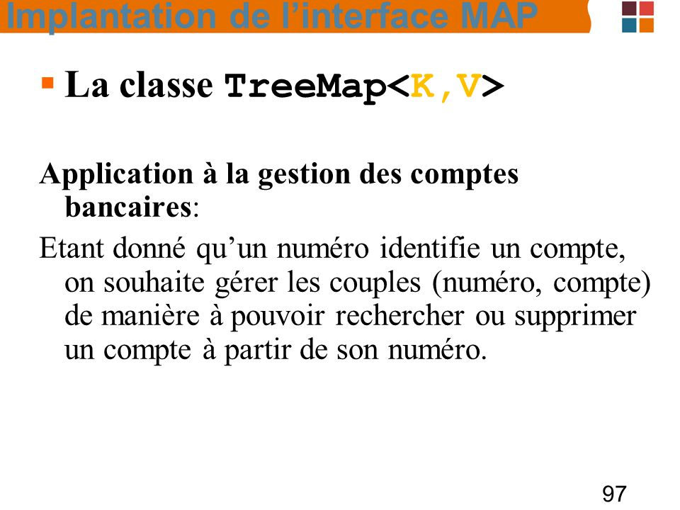 La classe TreeMap<K,V>