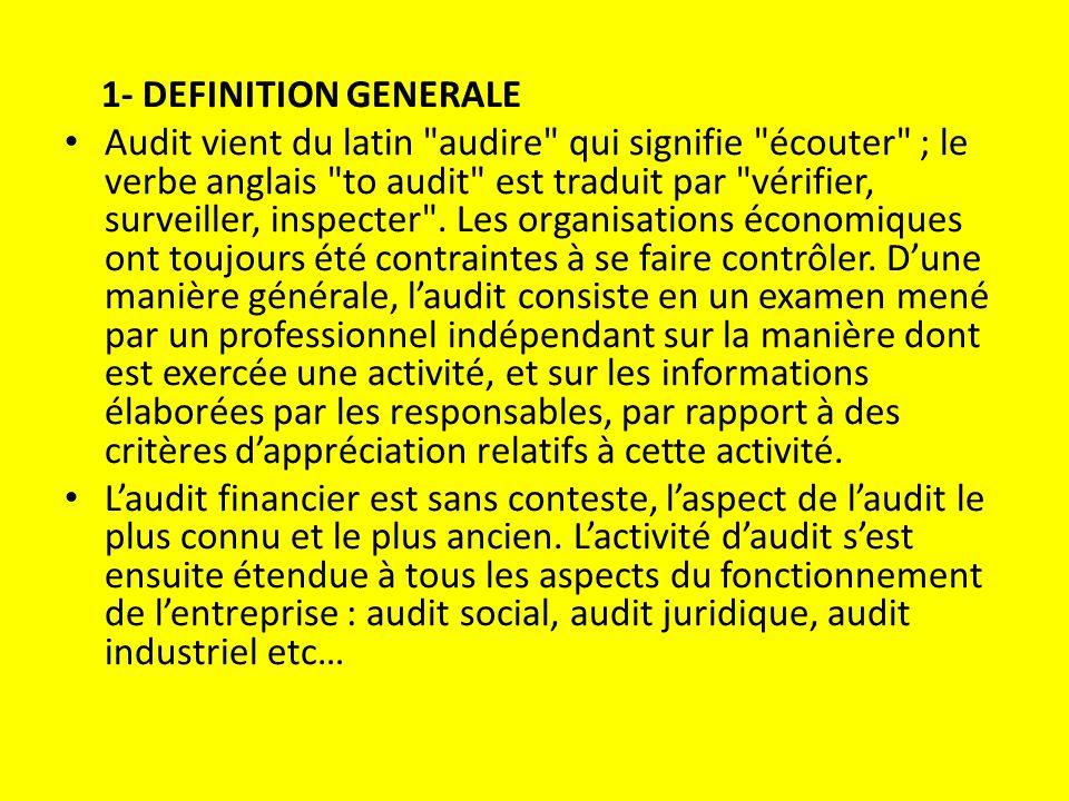 1- DEFINITION GENERALE