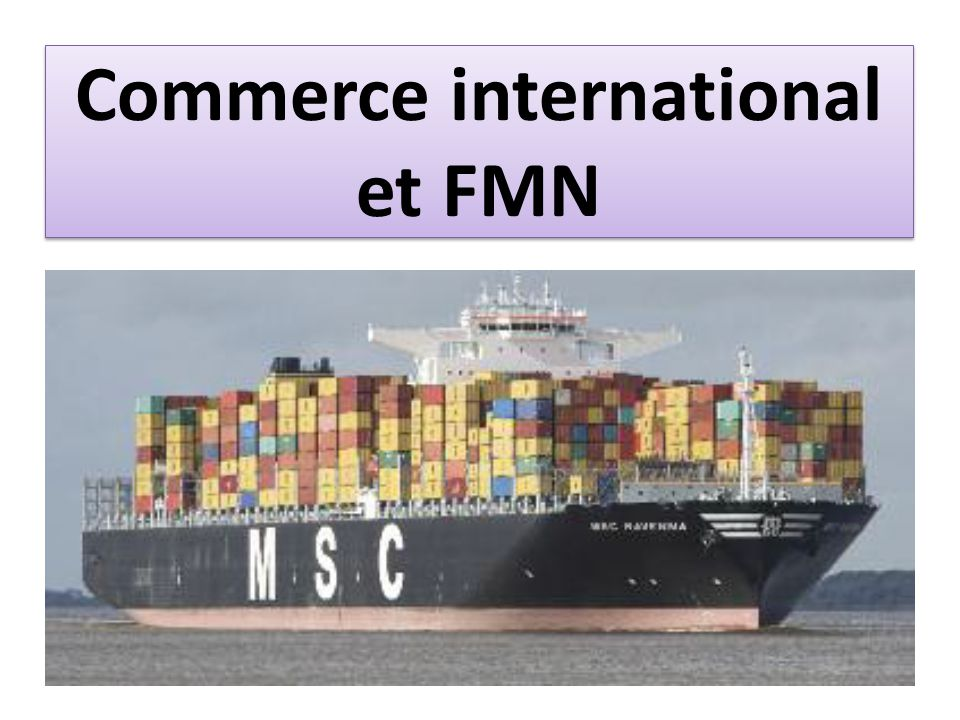 Commerce international et FMN