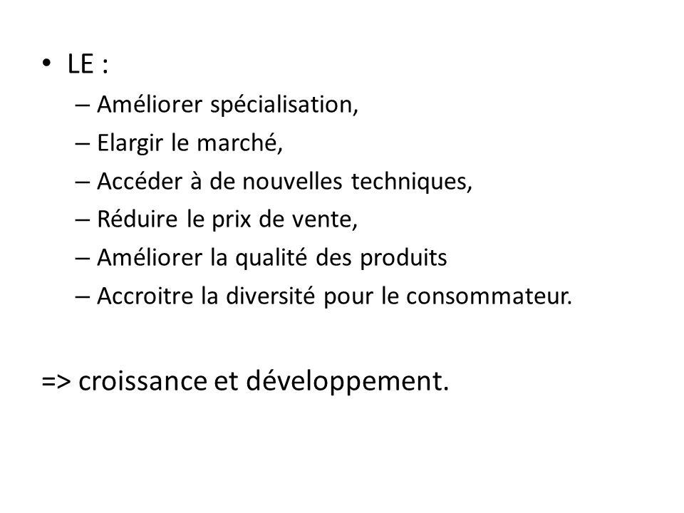 => croissance et développement.