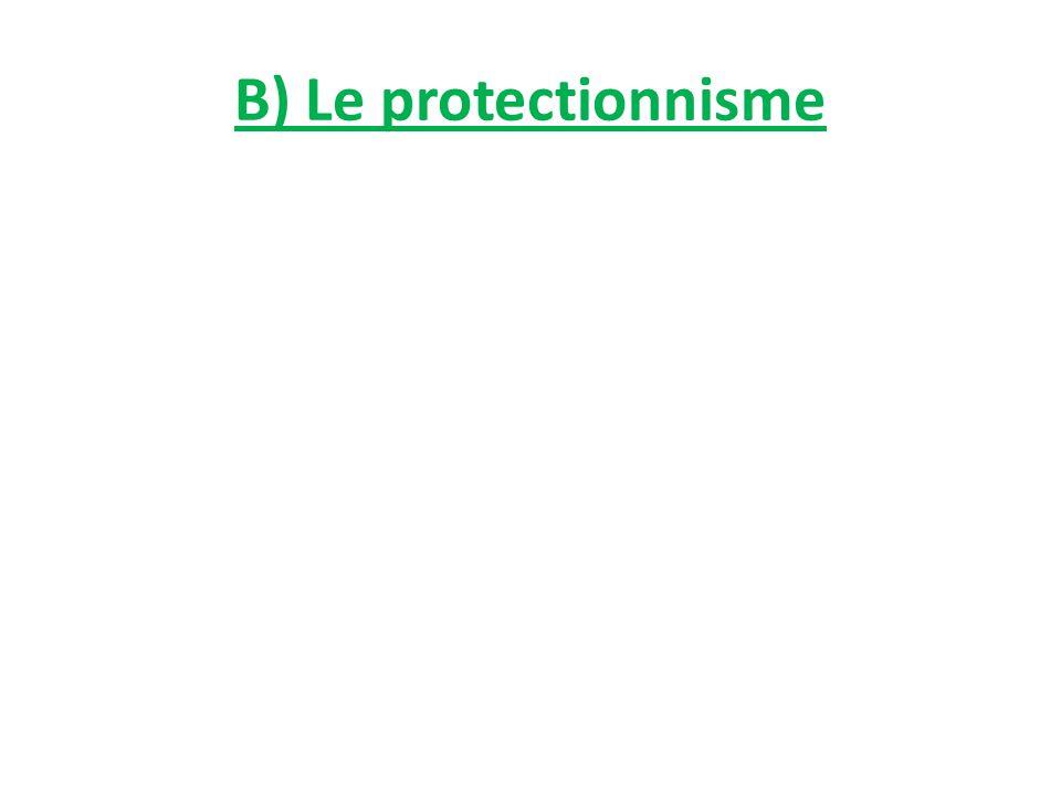B) Le protectionnisme