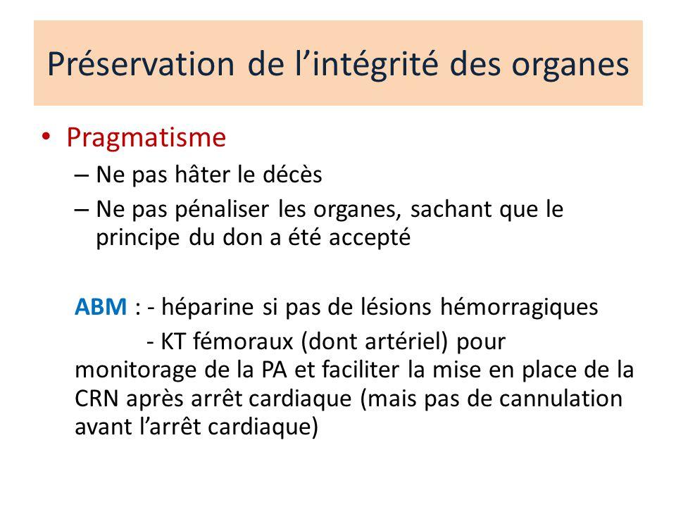 Préservation de l'intégrité des organes
