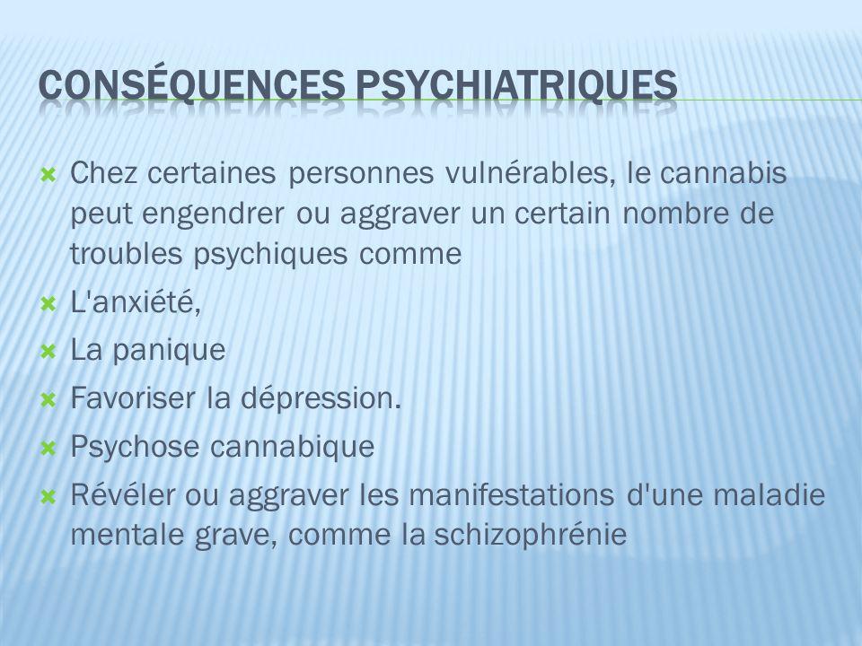 Conséquences psychiatriques