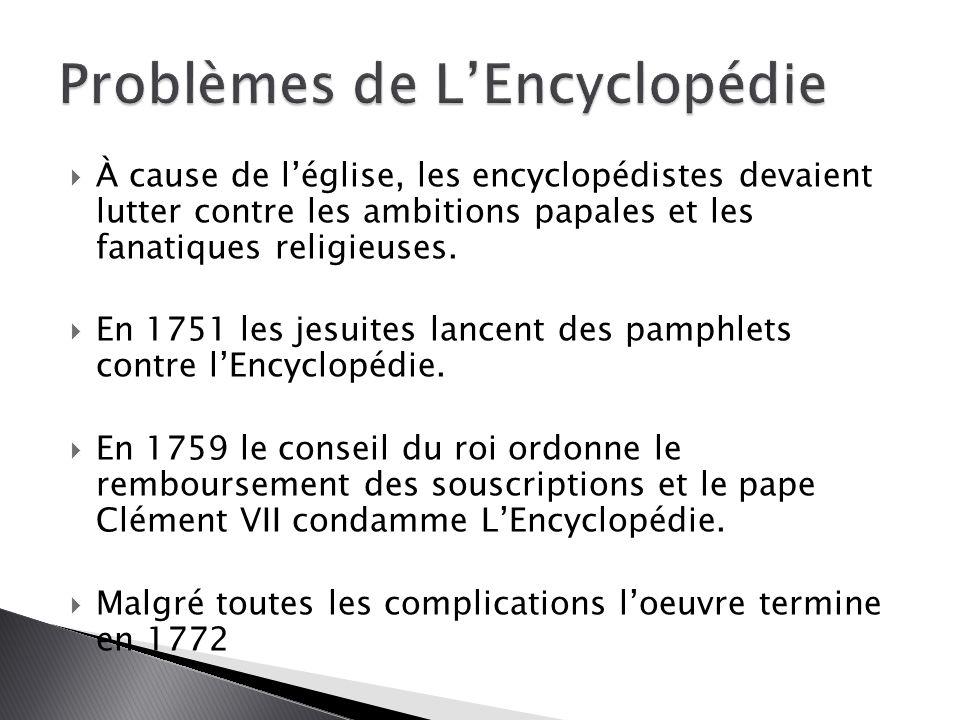 Problèmes de L'Encyclopédie