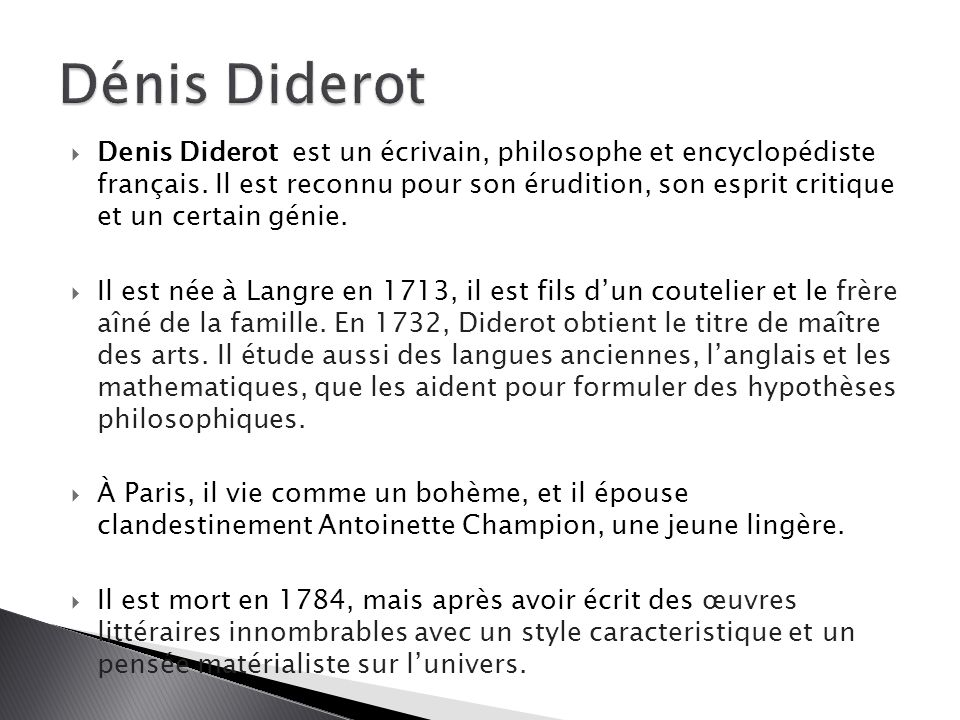 Dénis Diderot