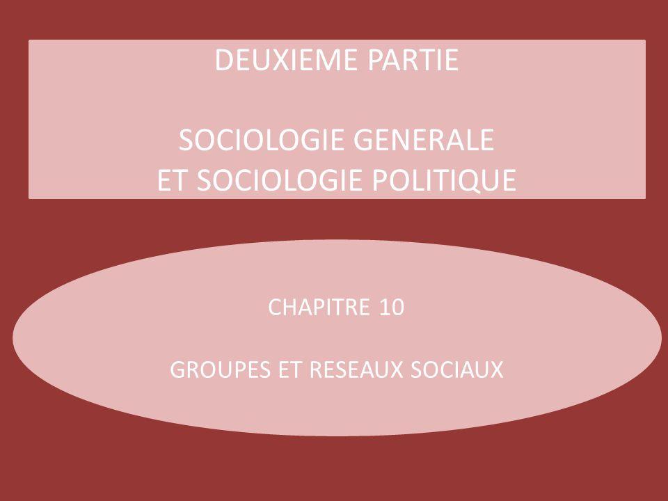 ET SOCIOLOGIE POLITIQUE