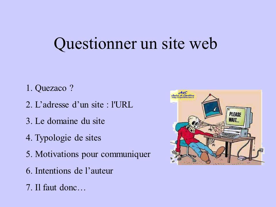 Questionner un site web
