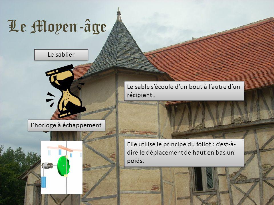 Le Moyen-âge Le sablier