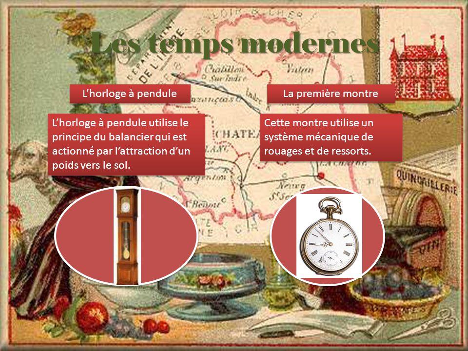 Les temps modernes L'horloge à pendule La première montre