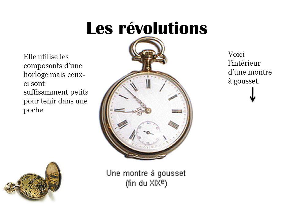 Les révolutions Voici l'intérieur d'une montre à gousset.