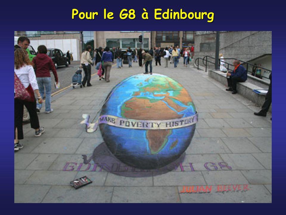 Pour le G8 à Edinbourg