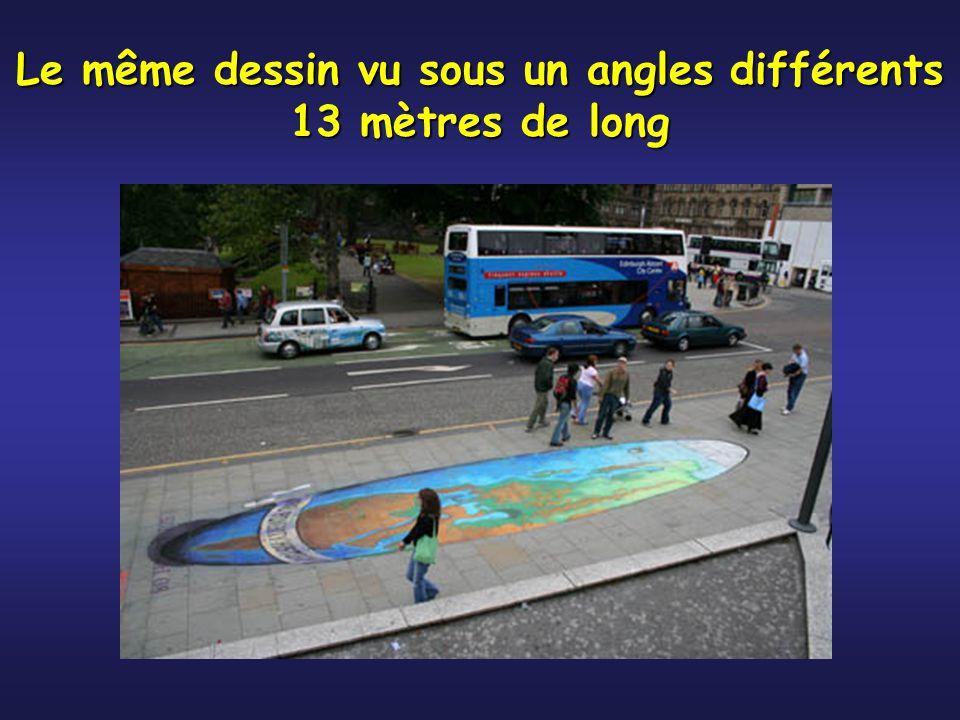 Le même dessin vu sous un angles différents 13 mètres de long