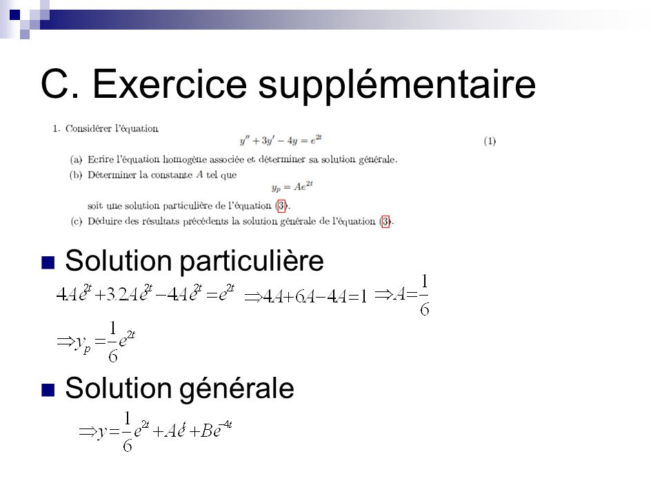 C. Exercice supplémentaire