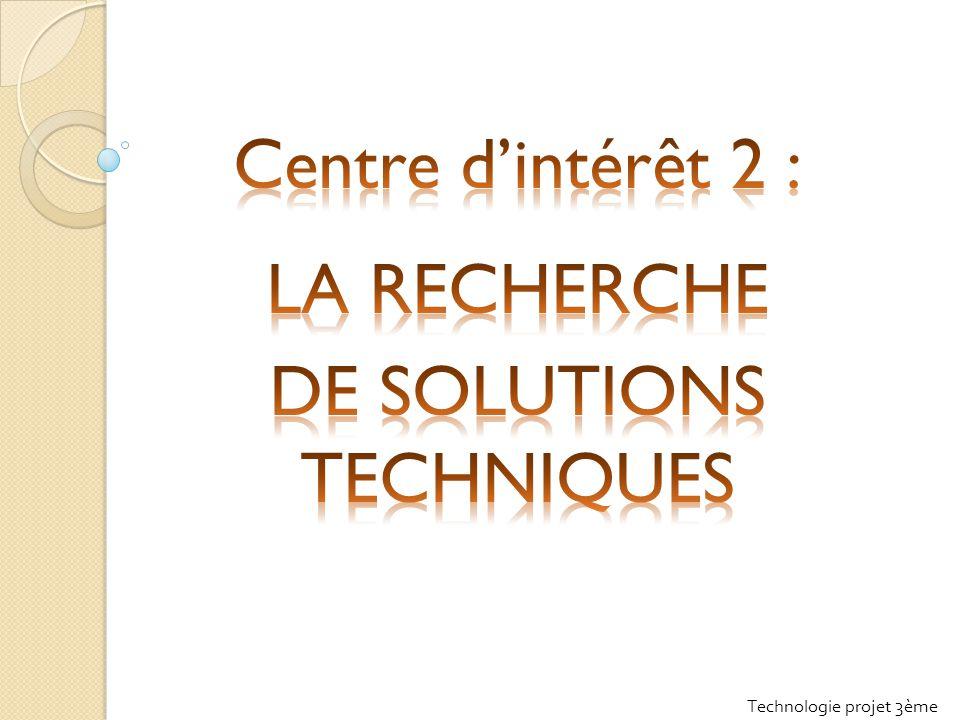 DE SOLUTIONS TECHNIQUES