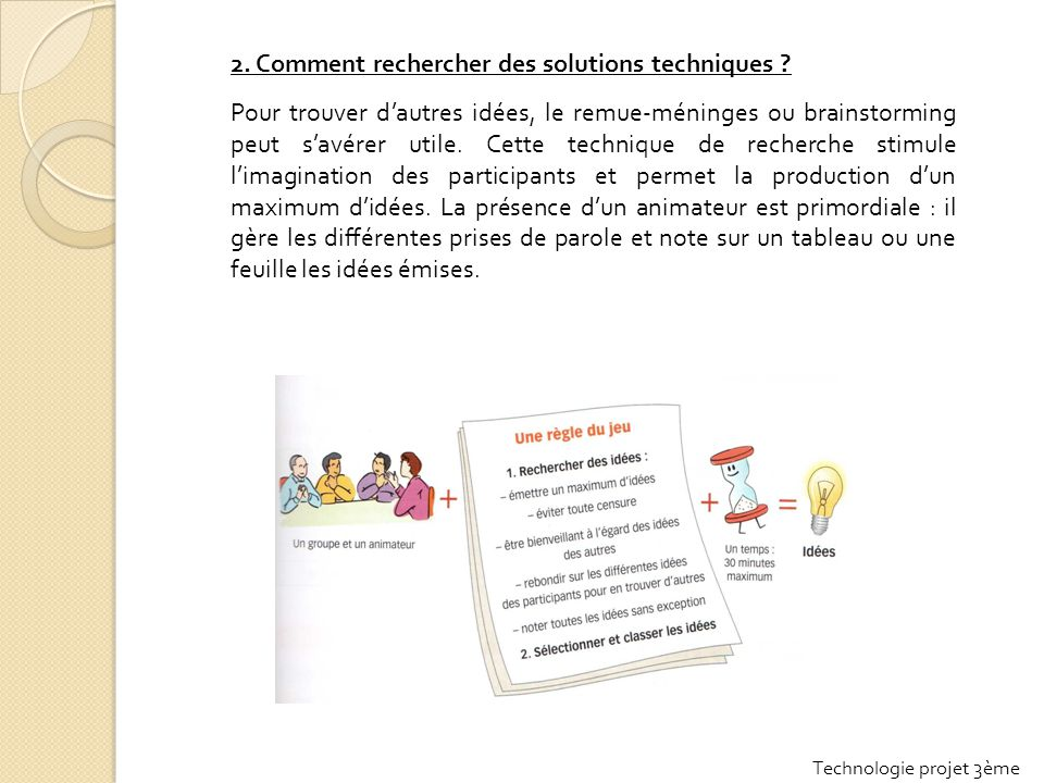 2. Comment rechercher des solutions techniques