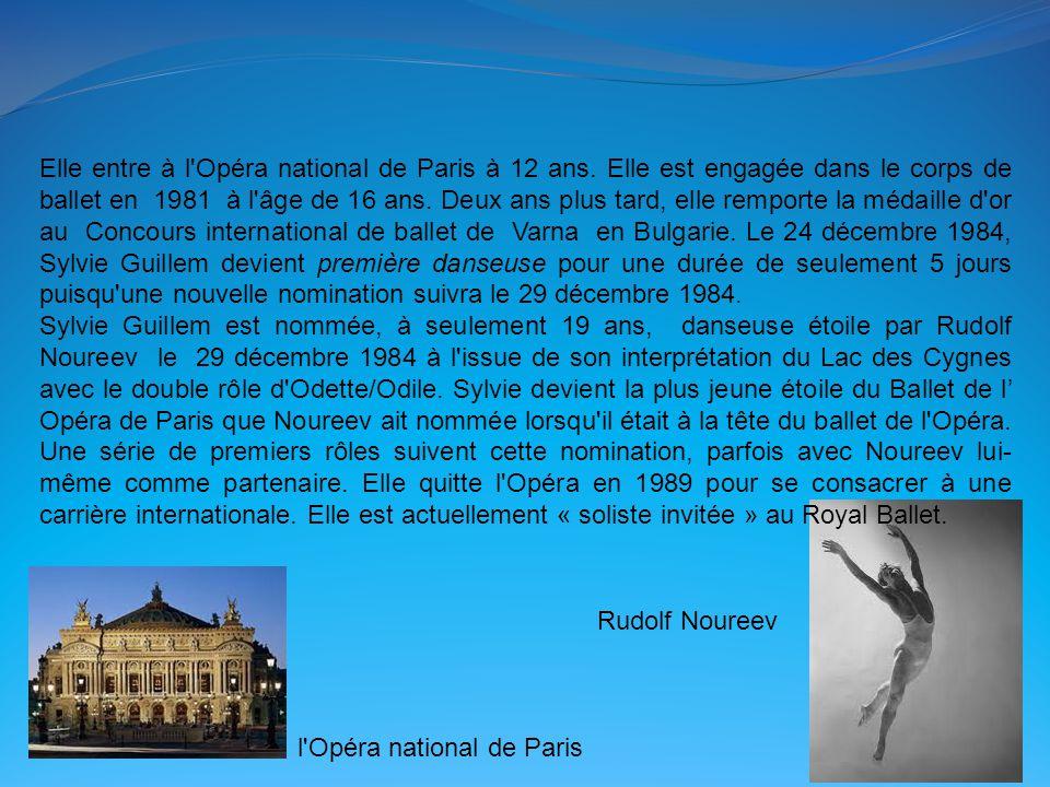 Elle entre à l Opéra national de Paris à 12 ans
