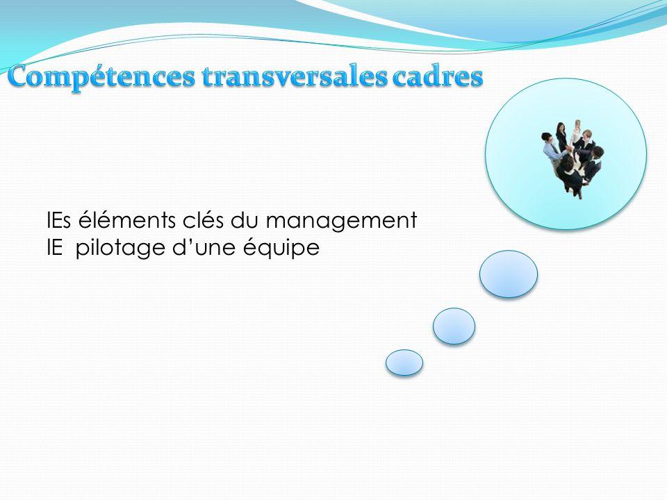 Compétences transversales cadres