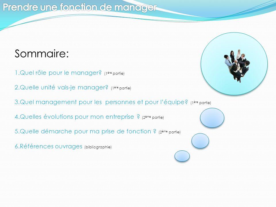 Sommaire: Prendre une fonction de manager
