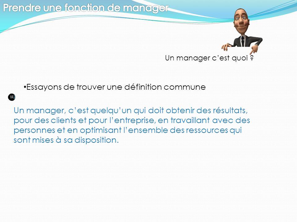 Prendre une fonction de manager