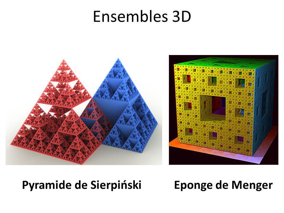 Ensembles 3D Pyramide de Sierpiński Eponge de Menger