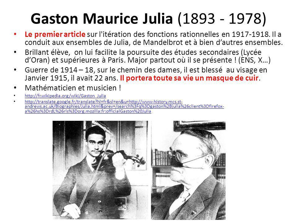 Gaston Maurice Julia (1893 - 1978)