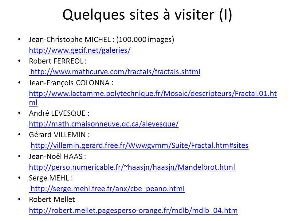 Quelques sites à visiter (I)