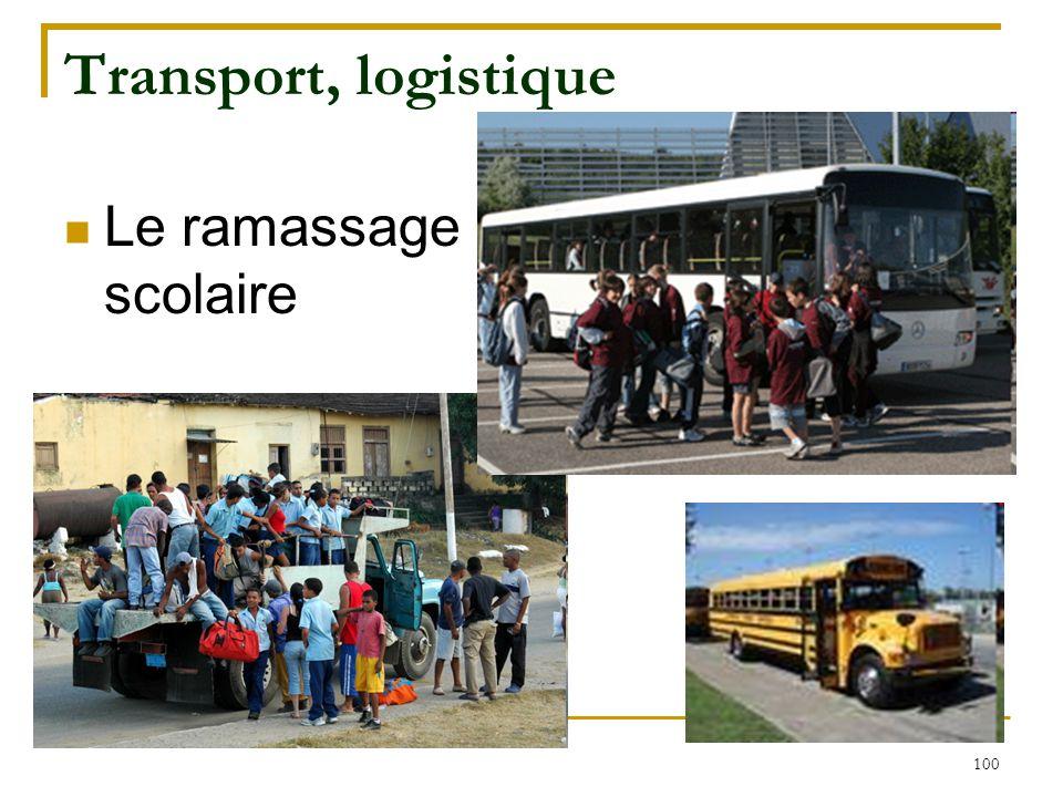 Transport, logistique Le ramassage scolaire