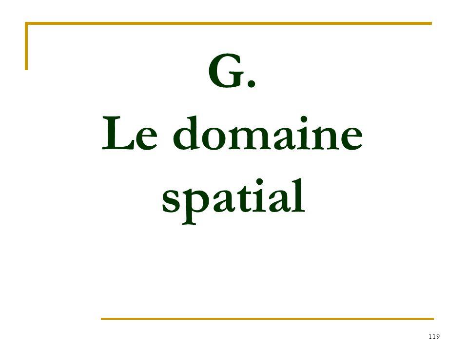 G. Le domaine spatial