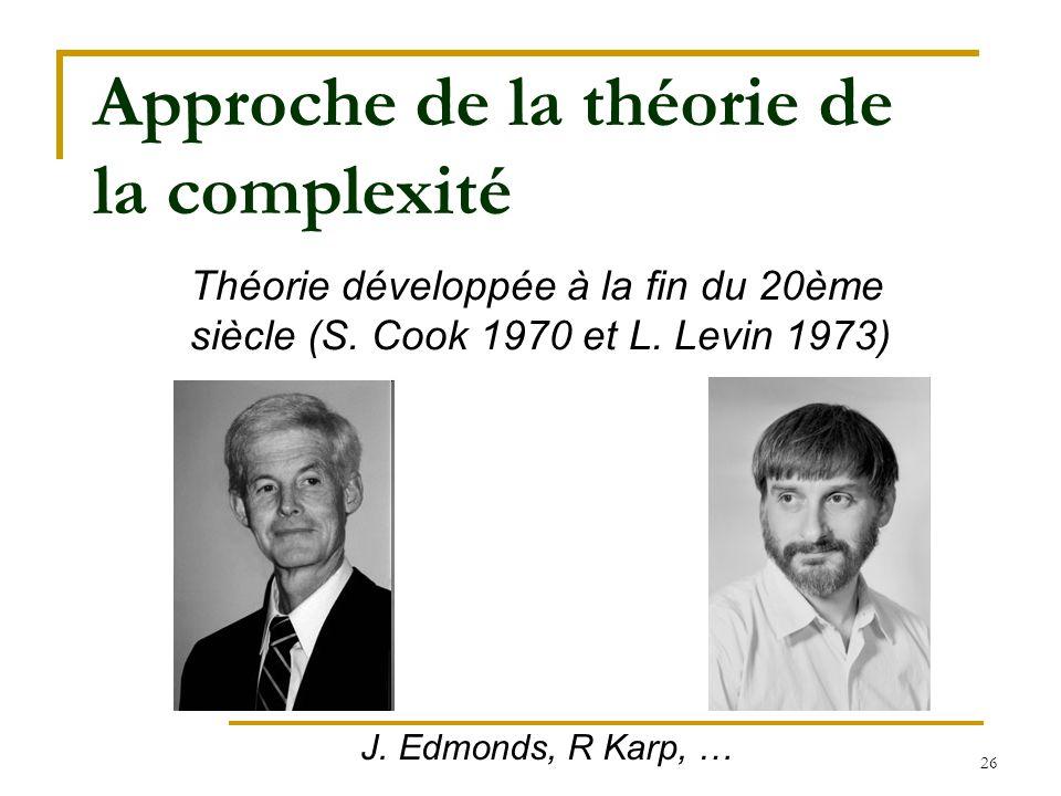 Approche de la théorie de la complexité