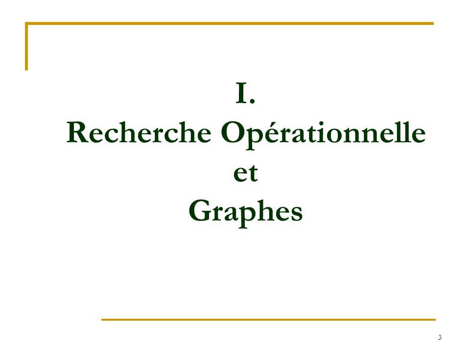 I. Recherche Opérationnelle et Graphes