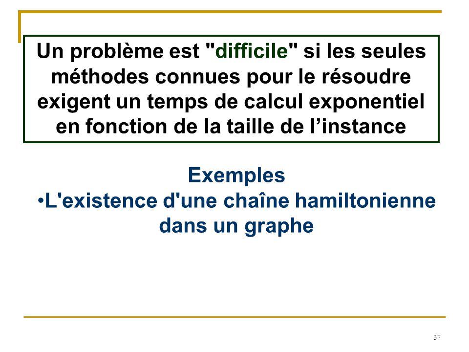 L existence d une chaîne hamiltonienne dans un graphe