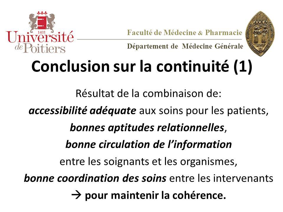Conclusion sur la continuité (1)