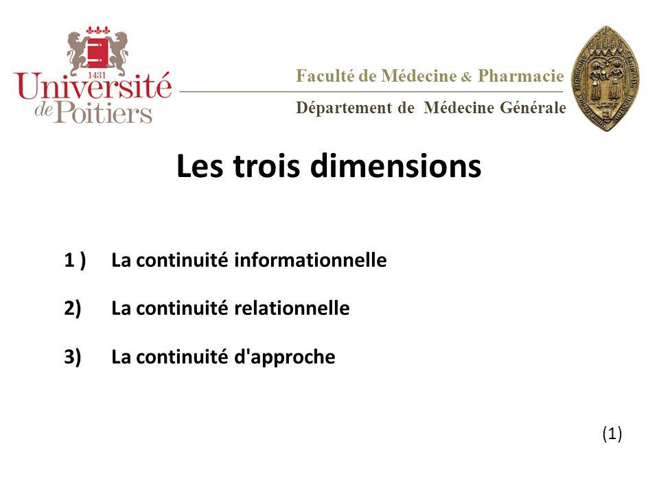 Les trois dimensions 1 ) La continuité informationnelle
