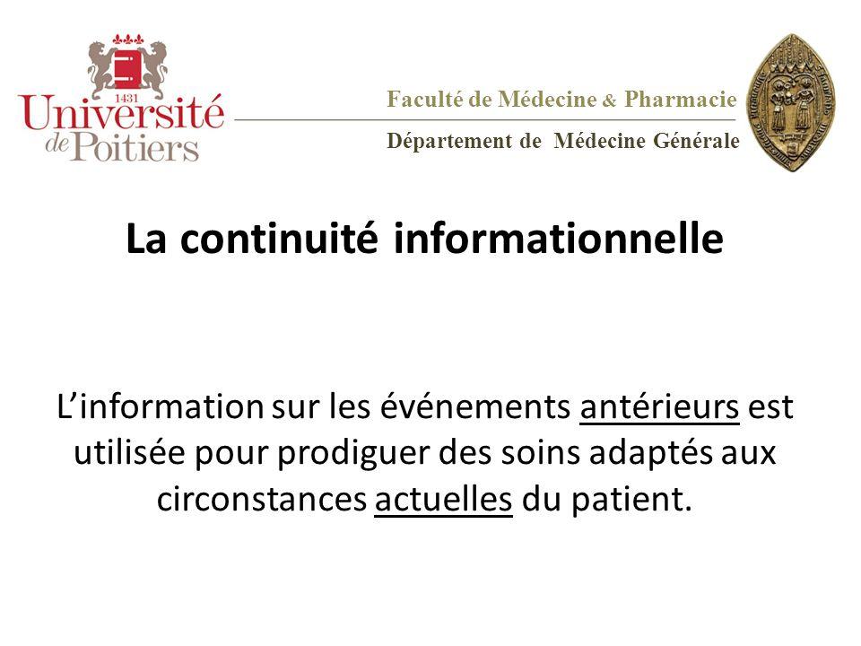La continuité informationnelle