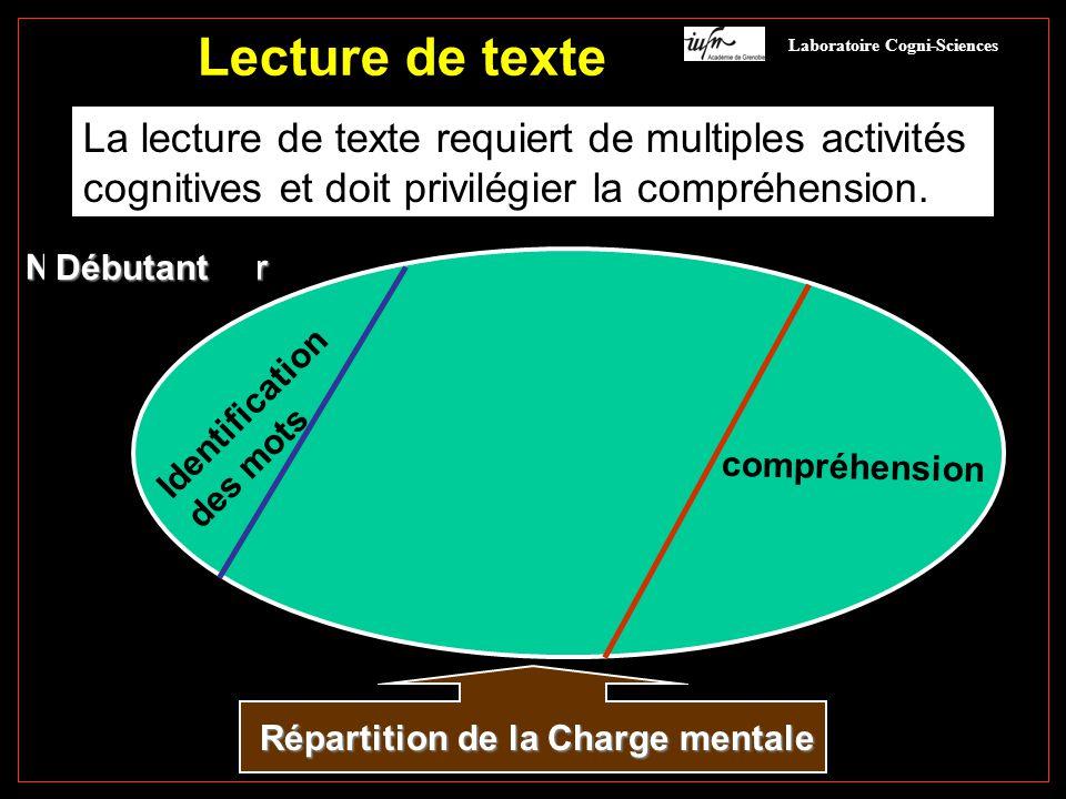 Lecture de texte La lecture de texte requiert de multiples activités