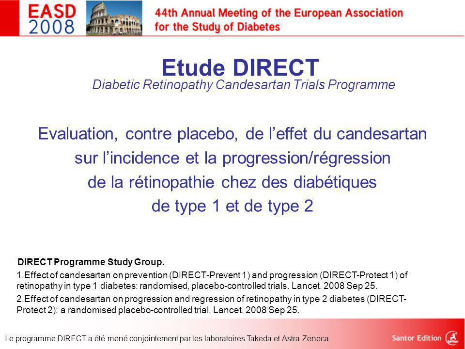 Etude DIRECT Diabetic Retinopathy Candesartan Trials Programme