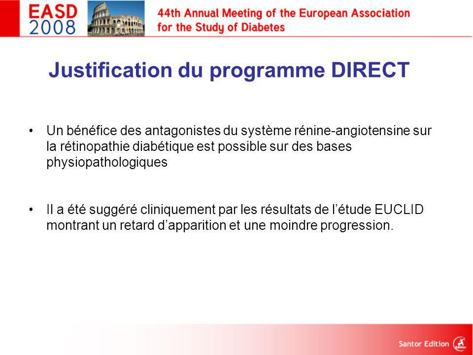 Justification du programme DIRECT