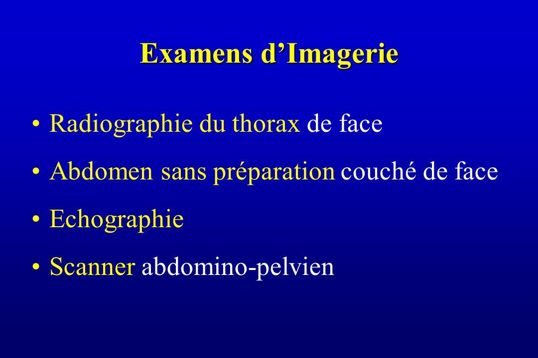 Examens d'Imagerie Radiographie du thorax de face