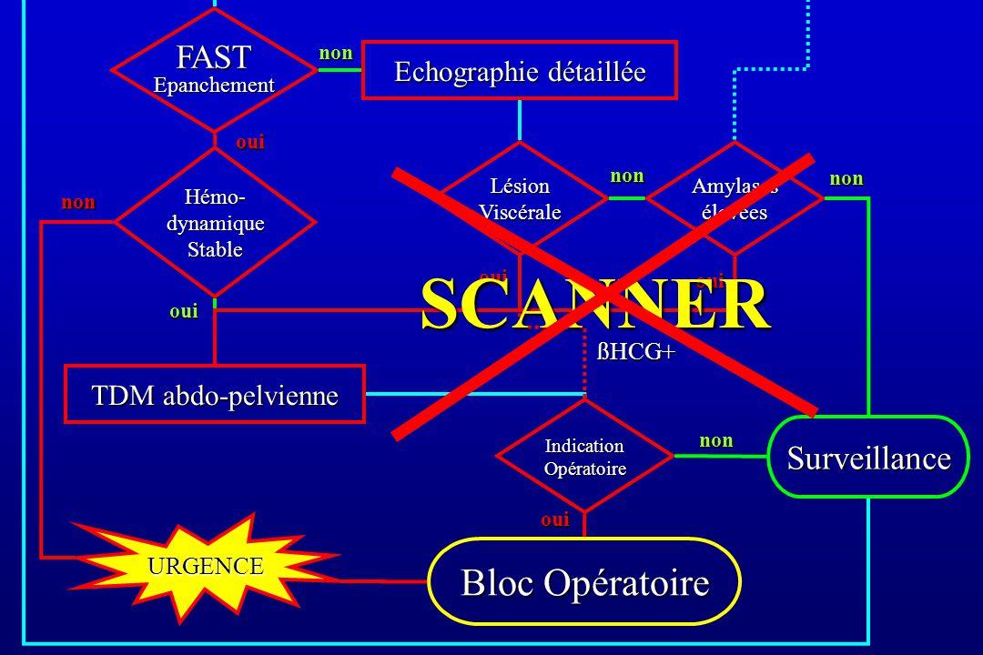 SCANNER Bloc Opératoire FAST Epanchement Surveillance