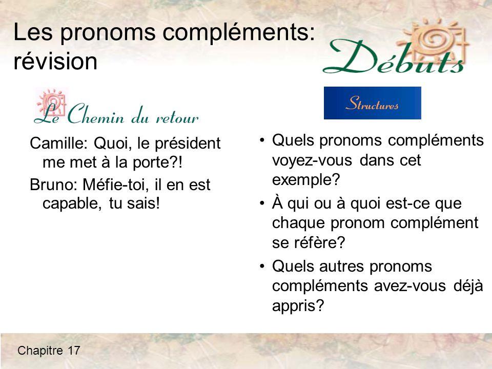 Les pronoms compléments: révision