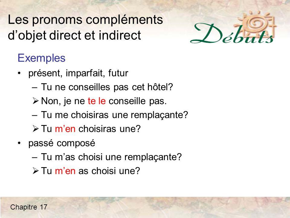 Les pronoms compléments d'objet direct et indirect