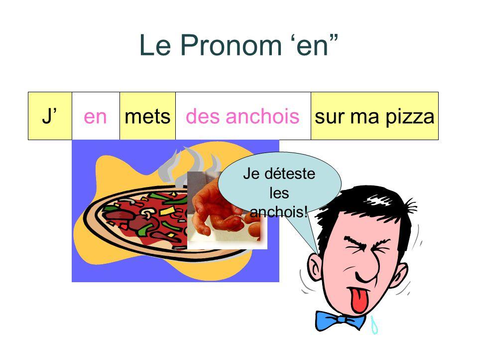 Le Pronom 'en Je J' en mets des anchois sur ma pizza